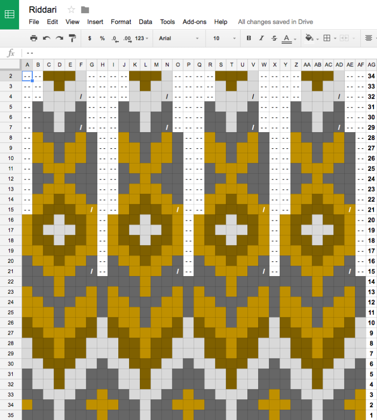 Photo of Colorwork with Google Sheets