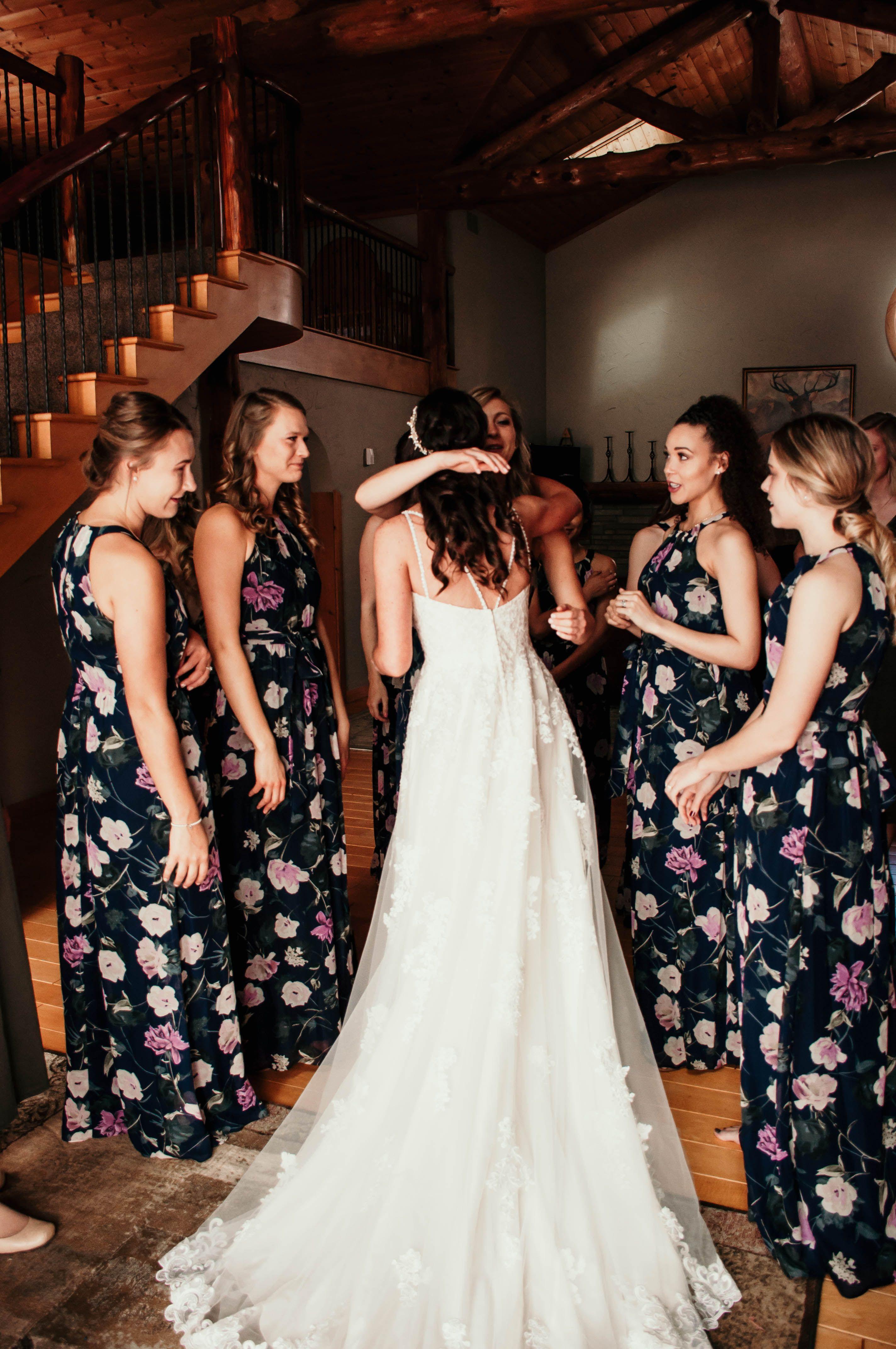 Bridesmaids First Look In 2020 Bridesmaid Bridesmaid Dresses Wedding Dresses