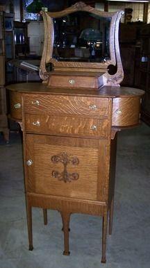 Antique Oak Shaving Stand For The Home Vintage