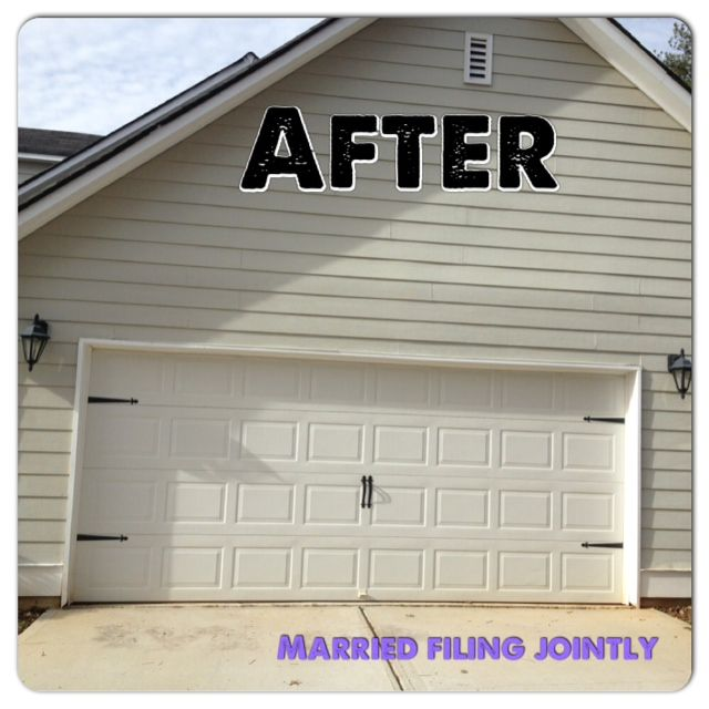 Modern Garage Doors In An Astonishing Protection: SIMPLE HARDWARE GIVES SUCH AN AMAZING FACELIFT! Married