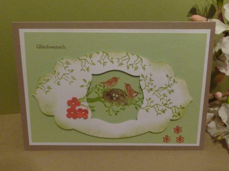 Geburtstagskarte  Glückwunschkarte Grusskarte  von Schönes aus Stempel und Papier auf DaWanda.com