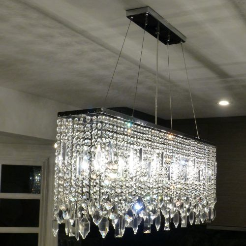 Sofia 40 Inch Chrome Crystal Chandelier Light Up My Home Lightupmyhome