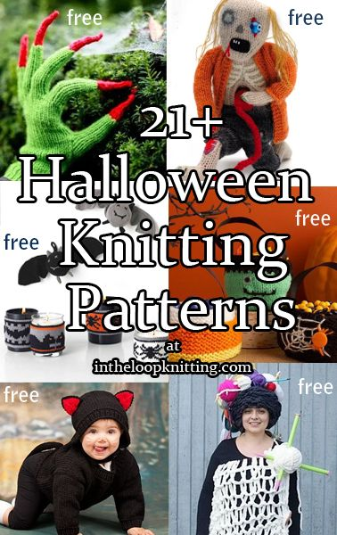 Knitting Patterns for Halloween Decorations and Costumes Most - patterns for halloween decorations