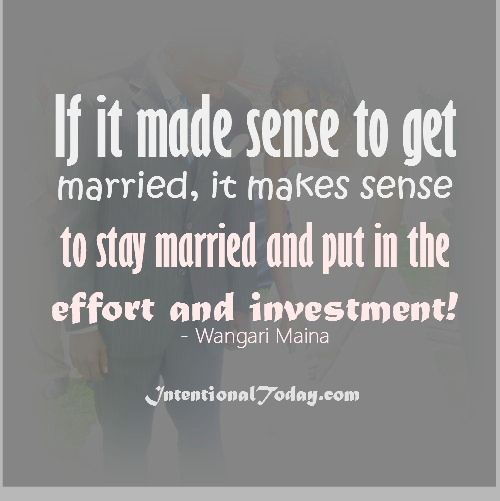 A Great Marriage Does Not Happen By Accident. It Happens
