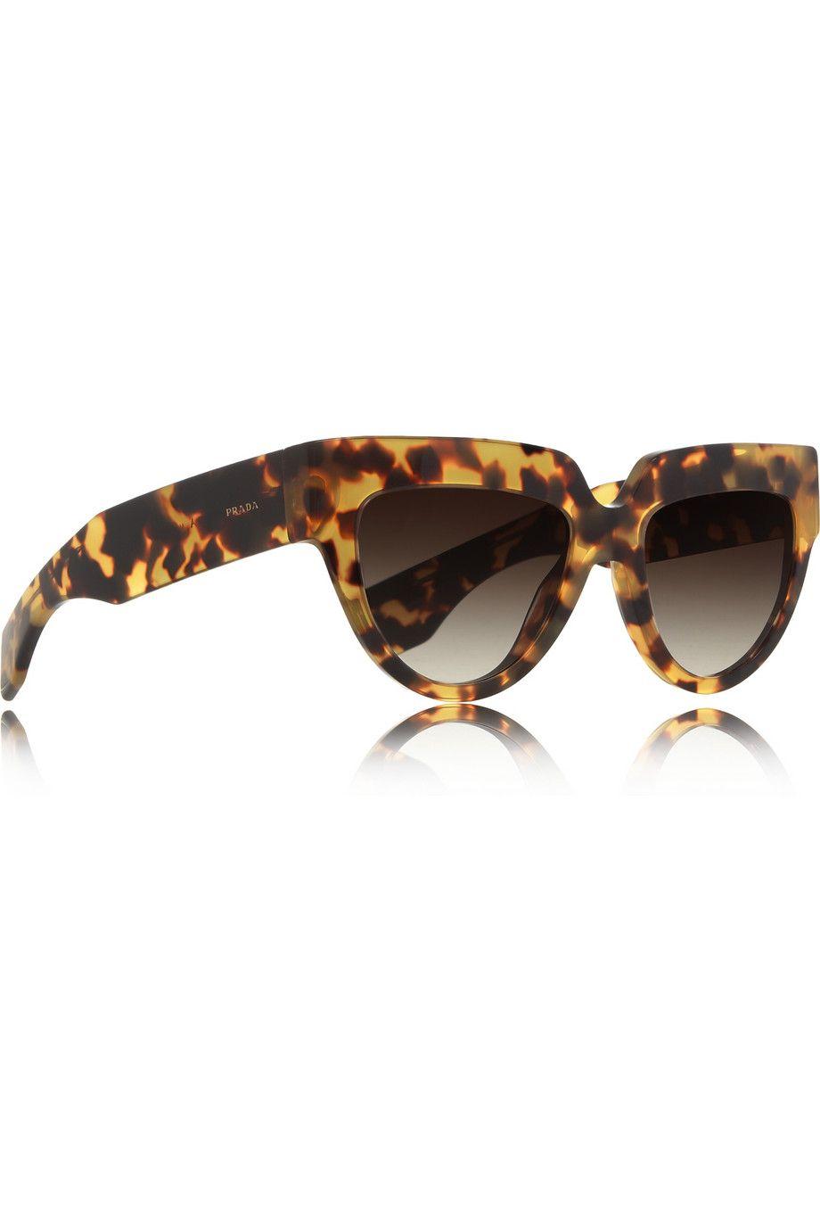 5e9930b4d Prada | Cat eye tortoiseshell acetate sunglasses | NET-A-PORTER.COM ...