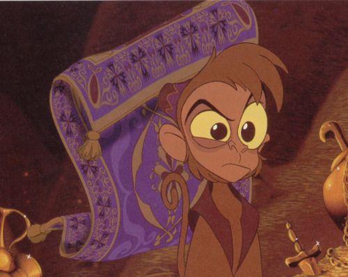 Aladdin 1992 Movie Abu And The Magic Flying Carpet Disney Aladdin Disney Sidekicks Disney Challenge