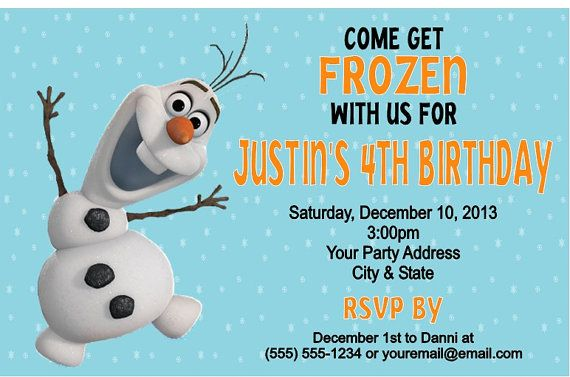 Frozen Olaf Birthday Party Invitations By Danniscutecreations 1 05