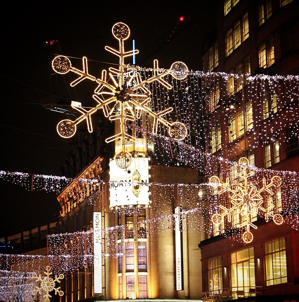 Christmas lights in the West End, London theatre district