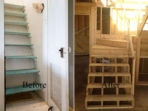 Remodeling Staircase Ideas | ... And Began Deck Framing And Interior Stair  Construction This