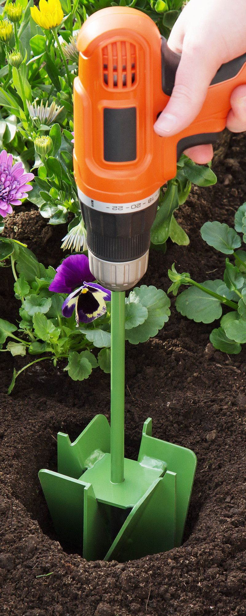 The Maxbit Garden Hole Digging Extension With Images Garden