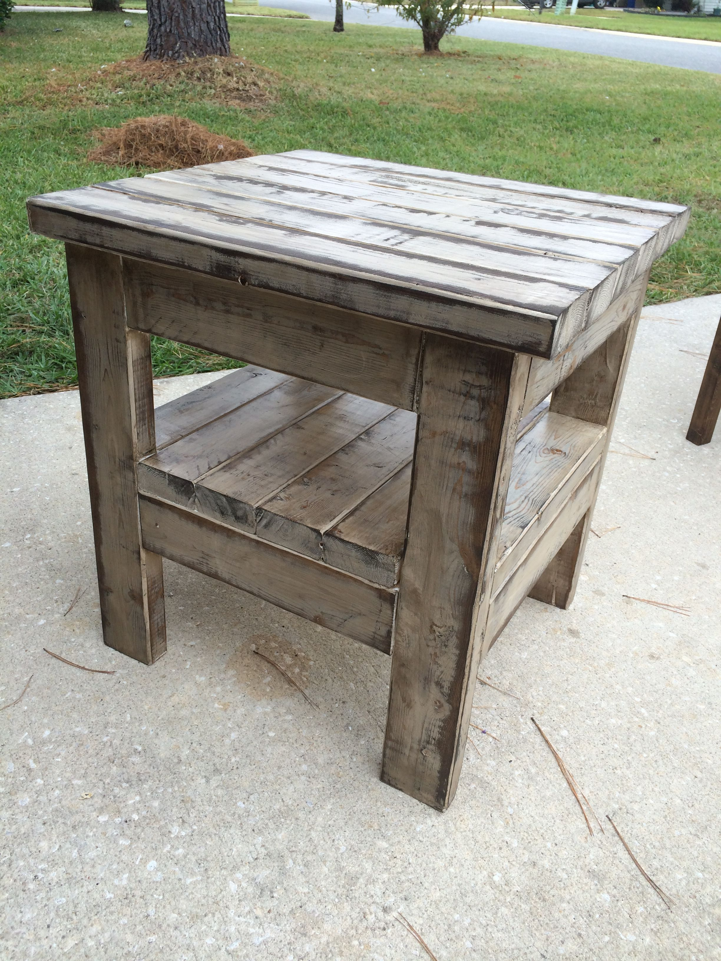 weathered end table rustic end tables