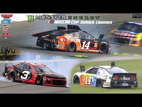 2019 NASCAR Cup Crashes (Pocono-Chicagoland) - YouTube