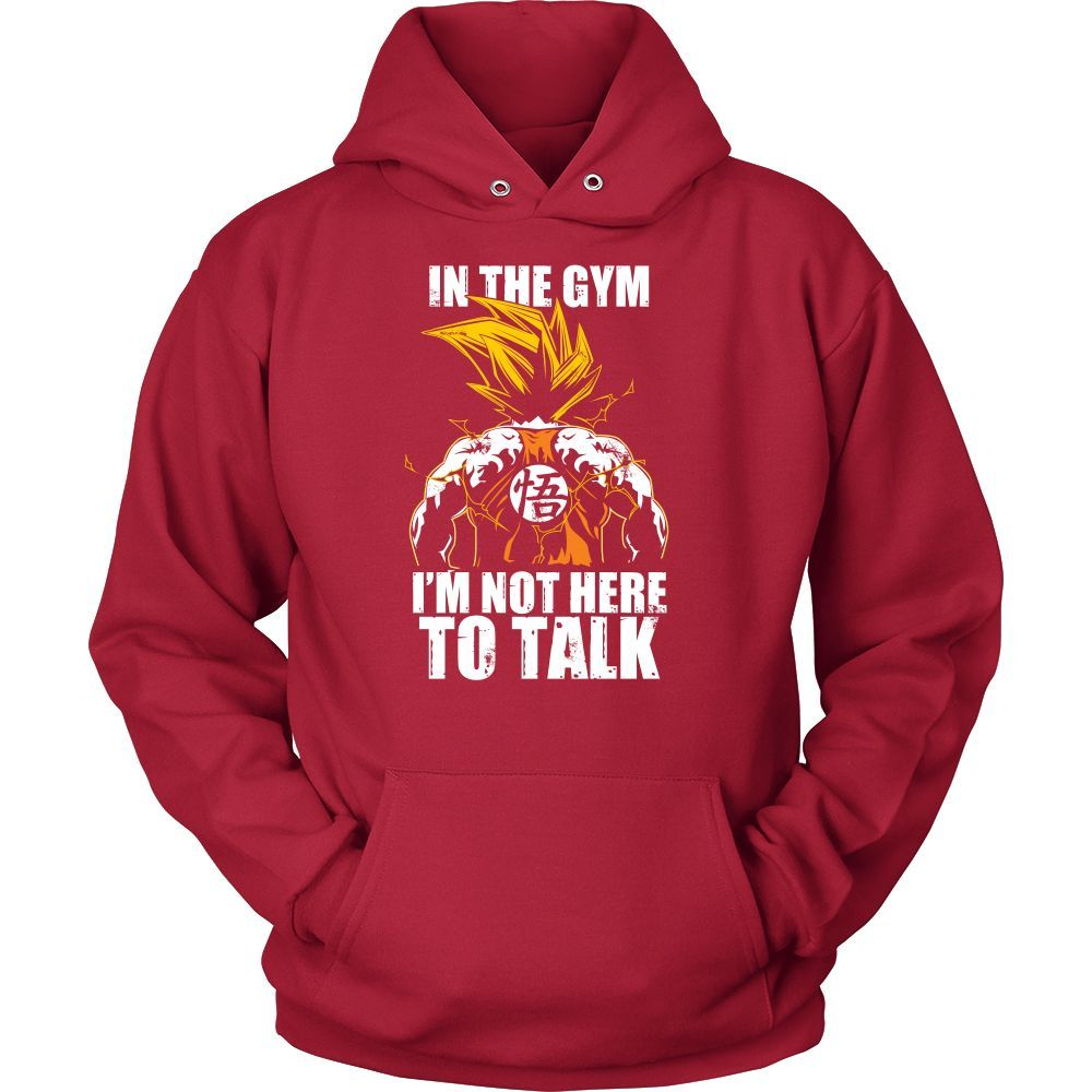 Super saiyan goku not to talk in gym training workout Unisex Hoodie T shirt - TL00553HO