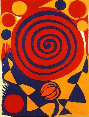 Untitled Alexander Calder Unknown Date 5 Color Lithograph On