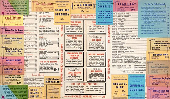 Take A Look At Some Really Excellent Vintage Menus Grub Street New York