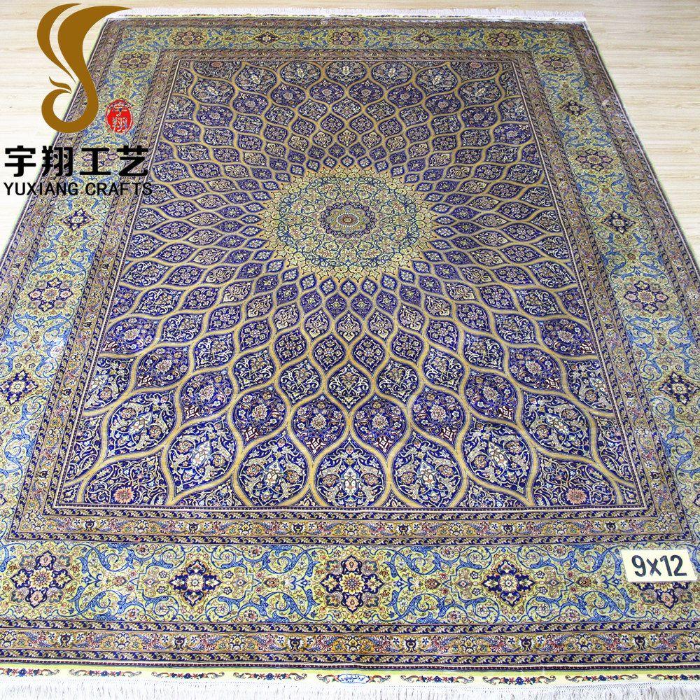 9x12ft Persian Design Handmade Silk Arabic Rug For Home Rugs Carpet Handmade Persian