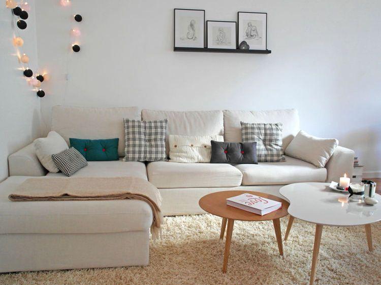 Un salon cosy avec canapé d\'angle   decor   Pinterest   Salons ...