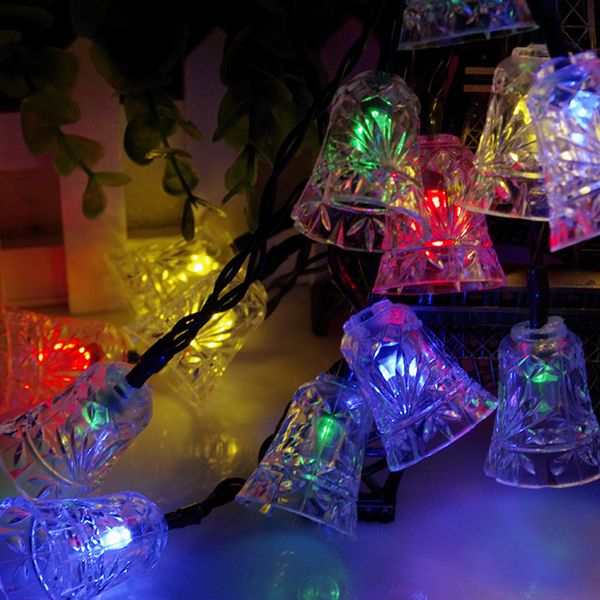Solar Power Bell LED String Light Christmas Decoration Supplies - solar christmas decorations