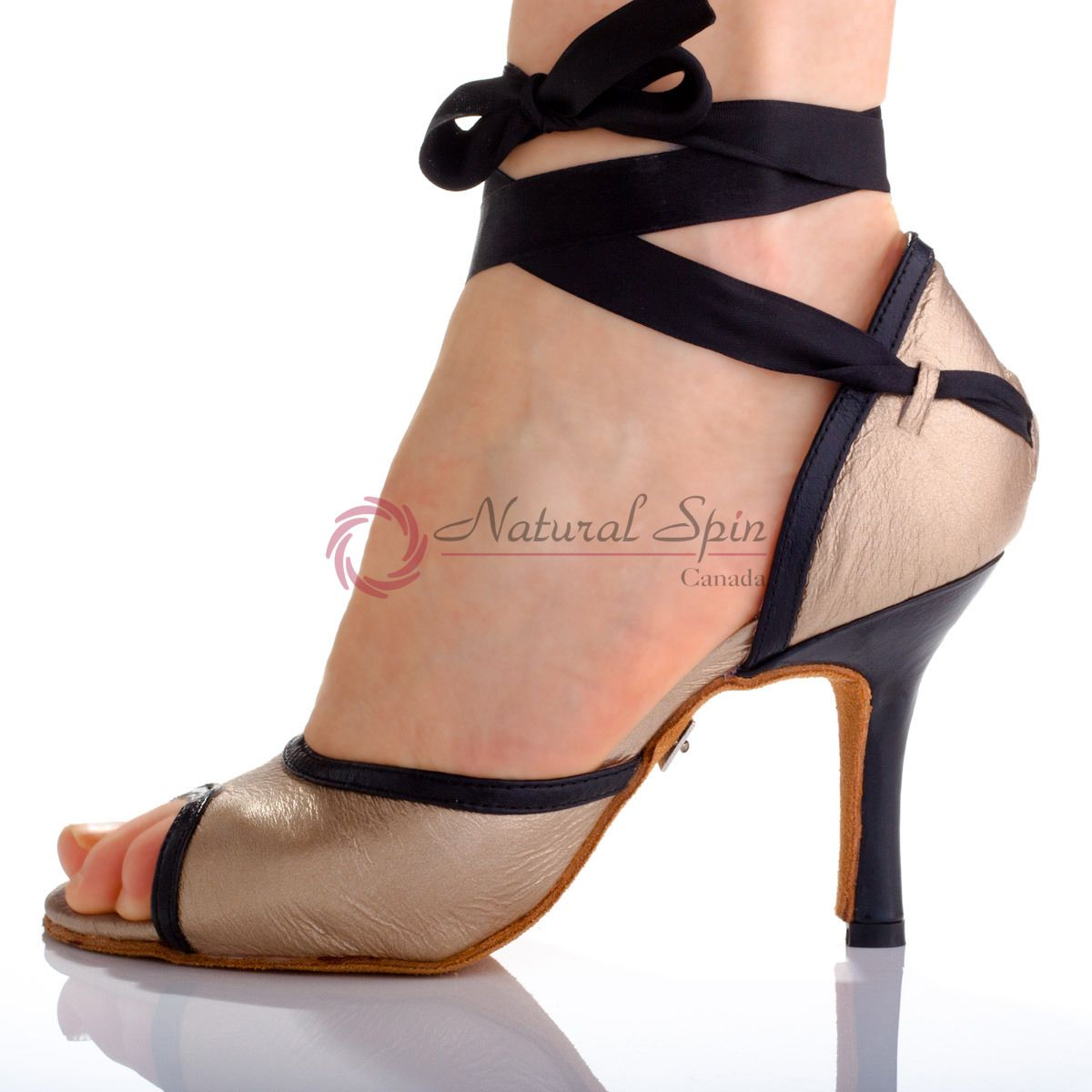 86c28331d Natural Spin Designer Salsa Shoes/Tango Shoes/Fashion Shoes(Small Open Toe,  Leat