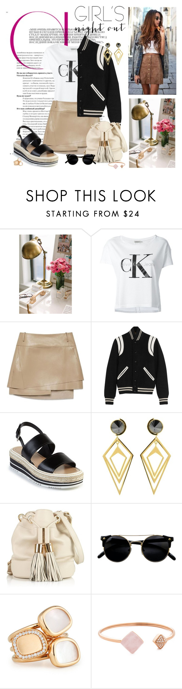 """#269"" by nikol128 ❤ liked on Polyvore featuring Elie Saab, Calvin Klein Jeans, Helmut Lang, Yves Saint Laurent, Prada, Sarah Magid, See by Chloé, Roberto Coin and Michael Kors"
