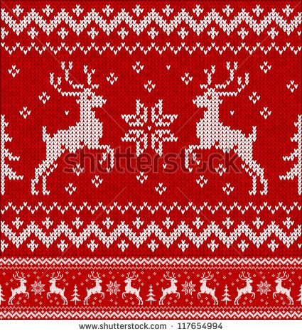Photo of Christmas decorations: sweater with deer stock vector (royalty free) 117654994
