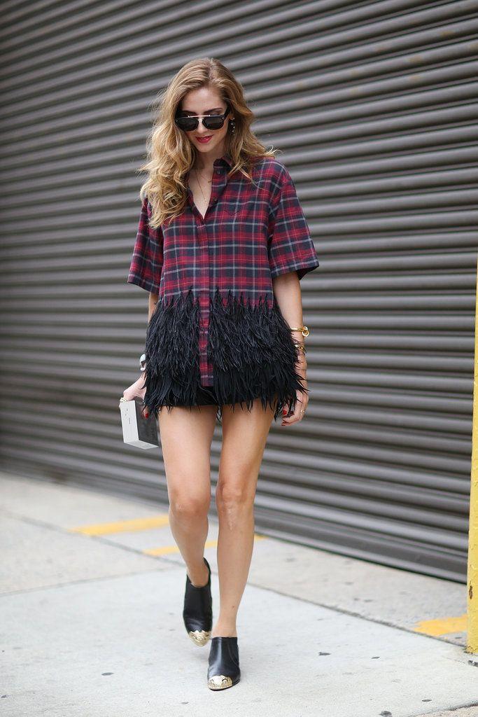 Prints in street style. Chiara at New York Fashion Week Spring 2015