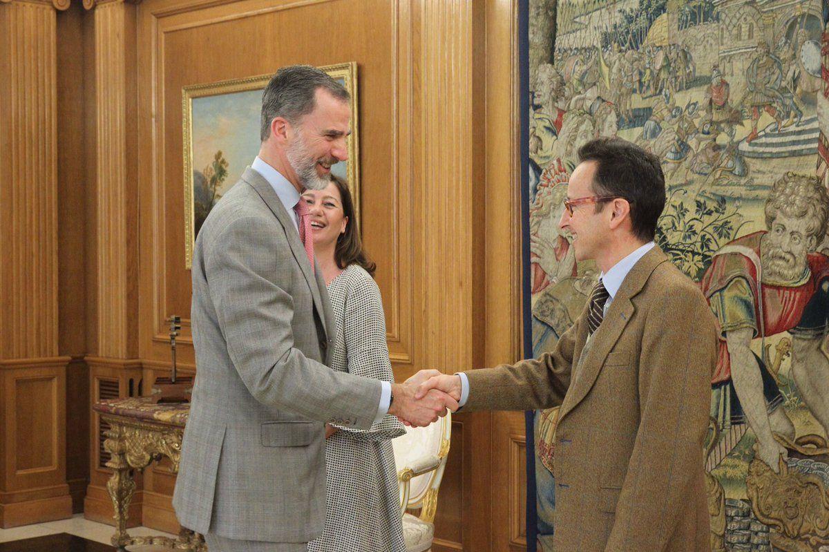 Foro Hispanico de Opiniones sobre la Realeza: El Rey se reunió con Joan Punyet Miró, acompañado por la Presidenta de las Illes Balears