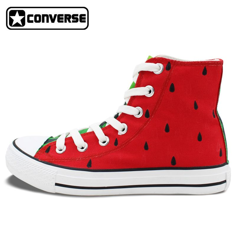Original Design Hand Painted Shoes Converse Chuck Taylor Watermelon Girls  Boys High Top Canvas Sneaker Gifts for Men Women shoes