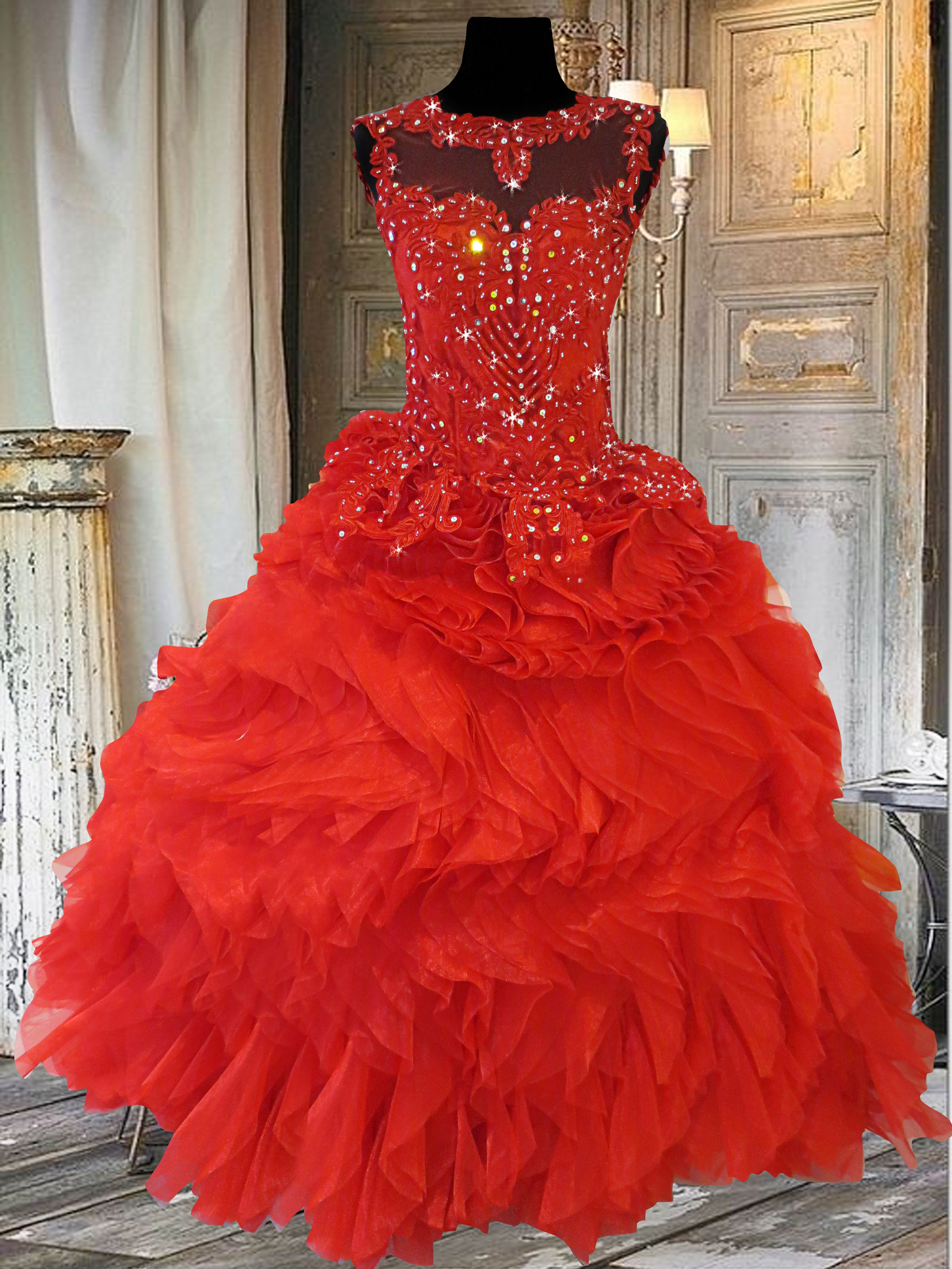 Red Ball Gown. Rent the Rita gown at www.gownforent.com | Debut Gown ...