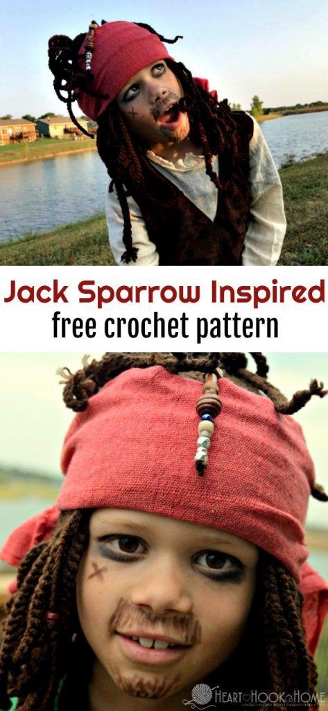 Jack Sparrow Inspired Halloween Costume Free Crochet Pattern