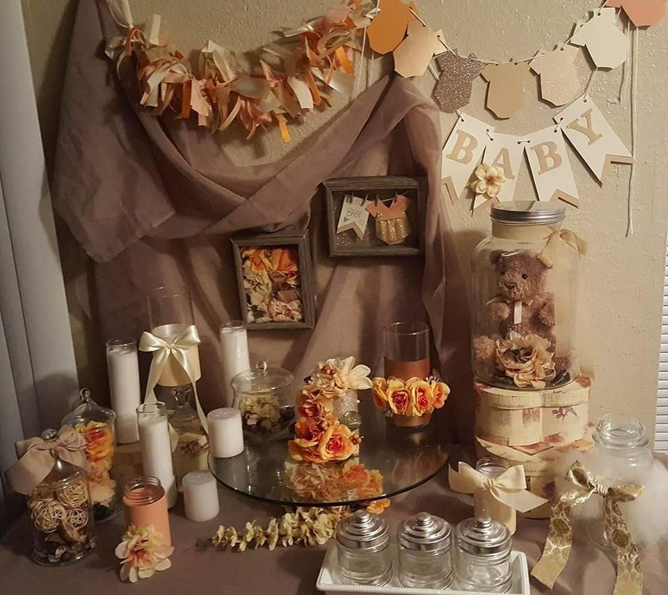 Baby Shower by Kiera Simmons Glass Shoe Events Table