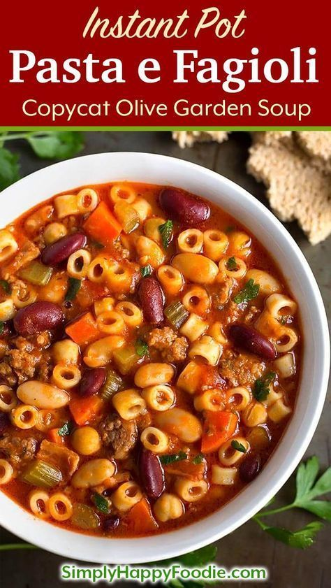 Instant Pot Pasta E Fagioli Is A Rustic Hearty Italian Peasant Soup With Sausage Instant
