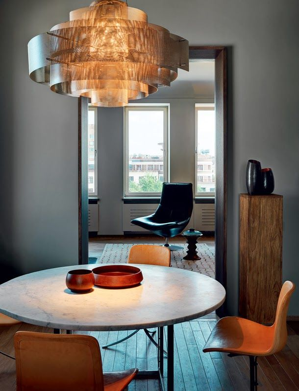 pale grey dining room.