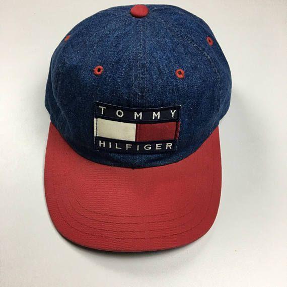 ad12e194f413a Vintage original Tommy Hilfiger denim hat in great condition. Hat is  original