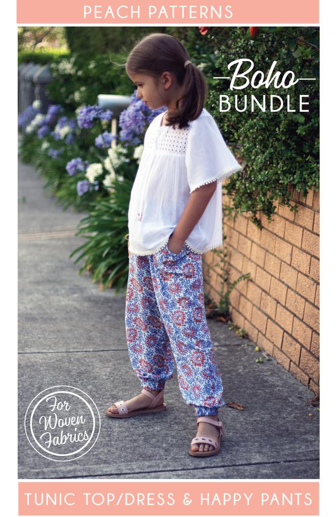TWO PATTERN BUNDLE: Boho Tunic Top/Dress & Happy Pants ...