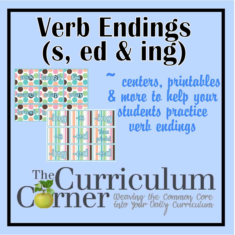 Verb Endings S Ed Ing Inflectional Endings Verbs Activities Phonics Words [ 1500 x 1500 Pixel ]
