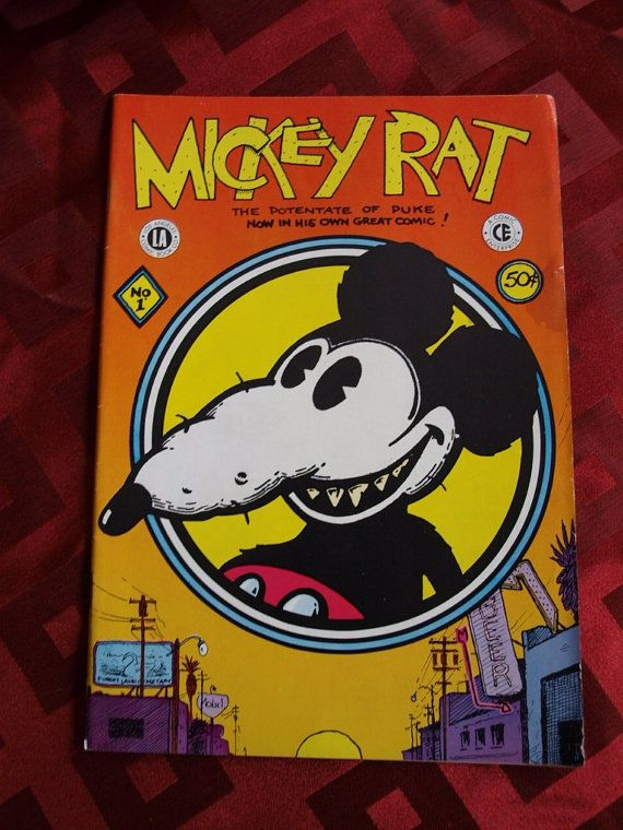 ROBERT ARMSTRONG MICKEY RAT NUMBER 1 1972 CHESTER CRILL LA COMIC CO.