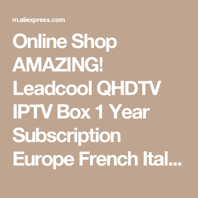 Leadcool QHDTV IPTV France Box 1 Year Code IPTV Spain French Belgium