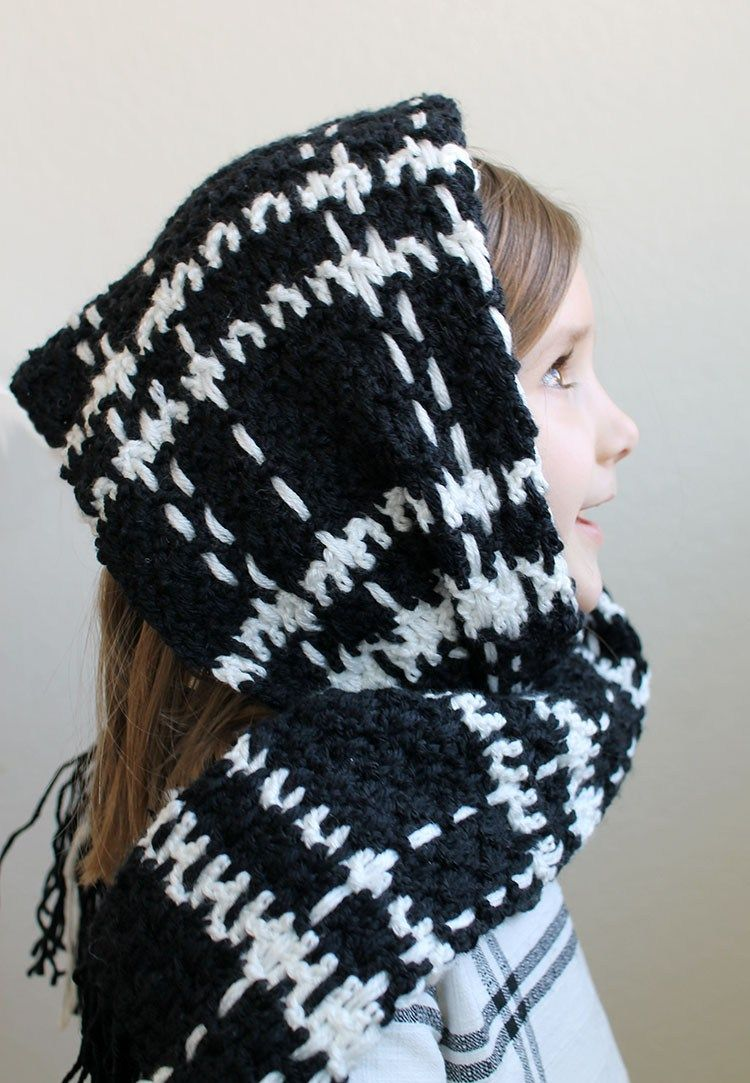 Windowpane Plaid Scarf - Free Crochet Pattern   Pinterest ...