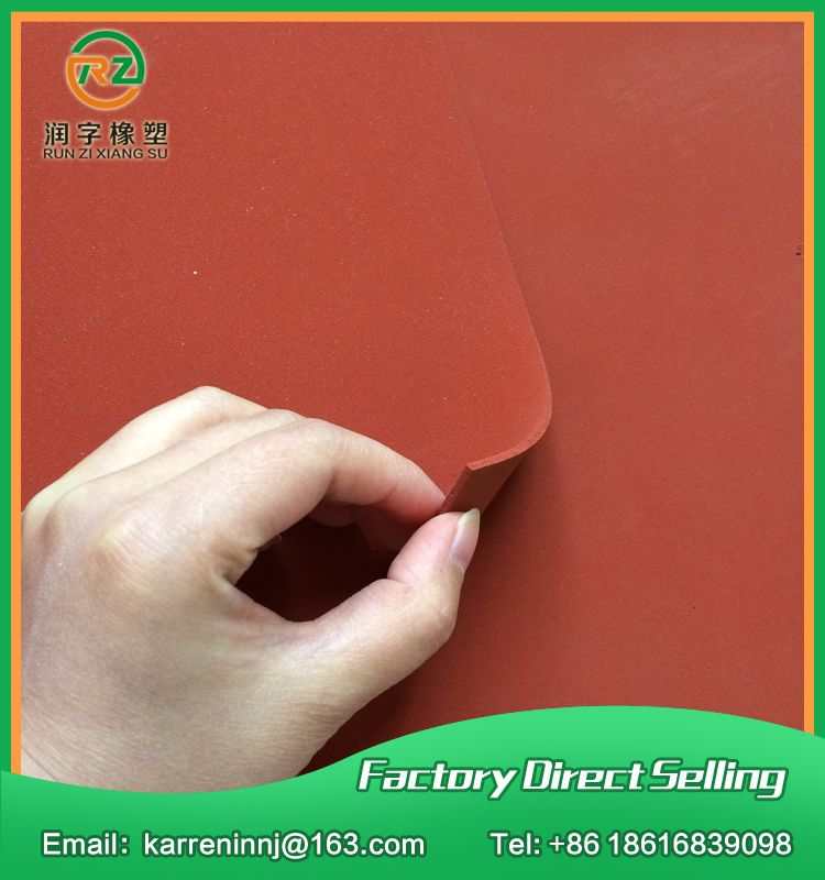 Top Quality Silicone Foam Sheet 1mm Red Silicone Sponge Sheet Size 500x500x1mm Heat Transfer Rubber Matt Check Best Foam Sheets Silicone Sponge Sheet Sizes