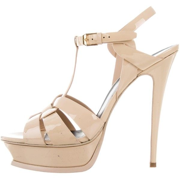 Pre-owned - Tribute patent leather sandals Saint Laurent bOmgy1EBio