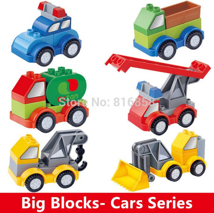 1pcset Building Blocks Car Set Baby Diy Toys Traffic Blocks Toys