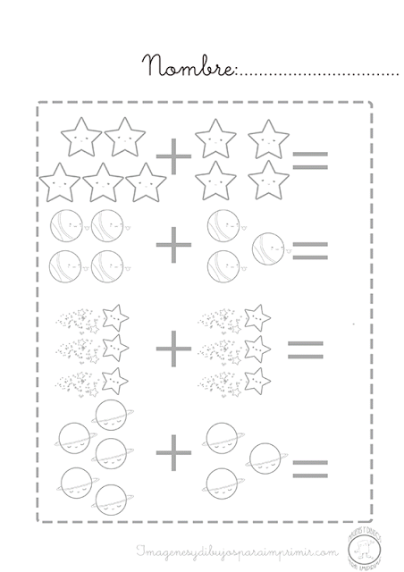 Sumas Para Imprimir Infantil Imagenes Y Dibujos Para Imprimir