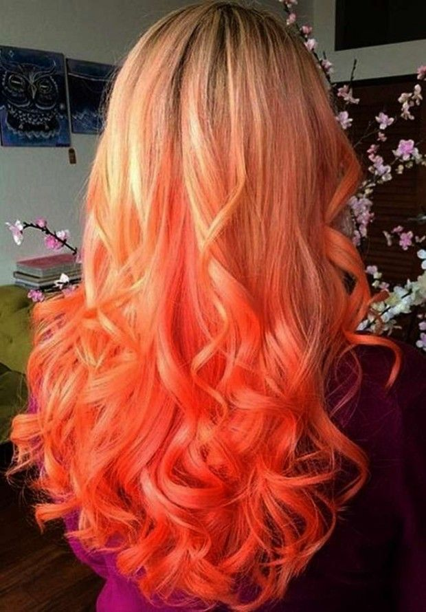 Hair Color Winter 2018 Sunset Tie Dye Hair Color Imaginary