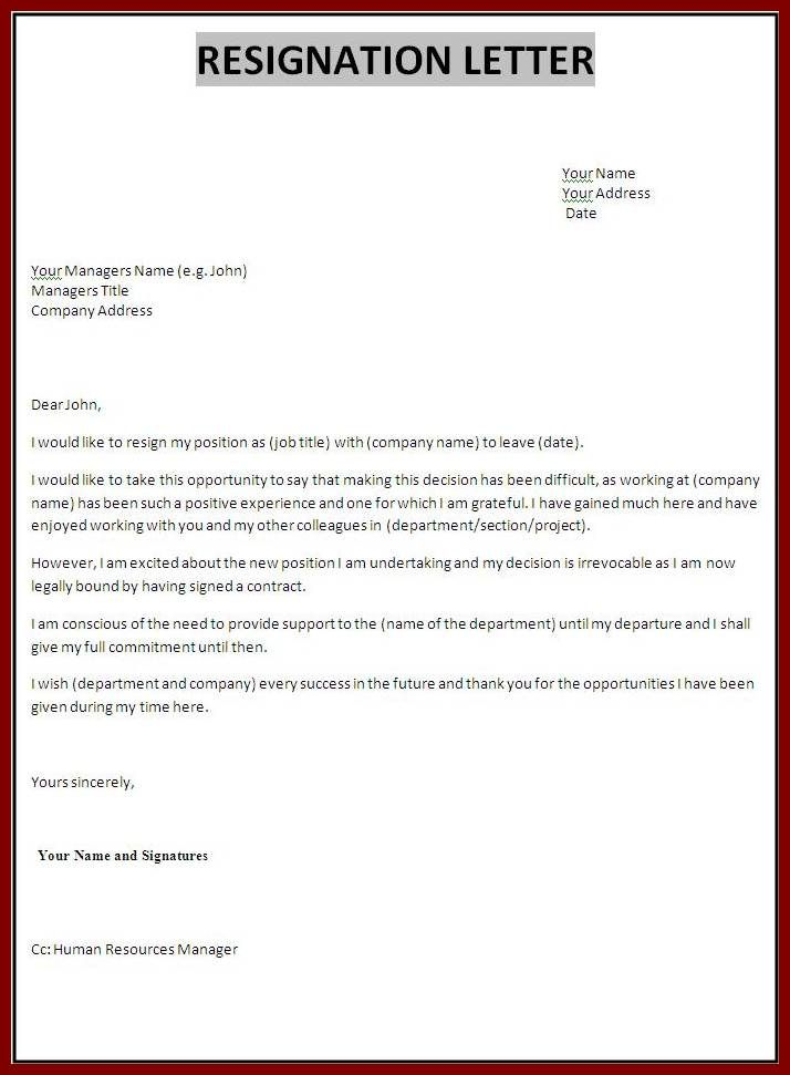 tips for writing a good resignation letter with samples in