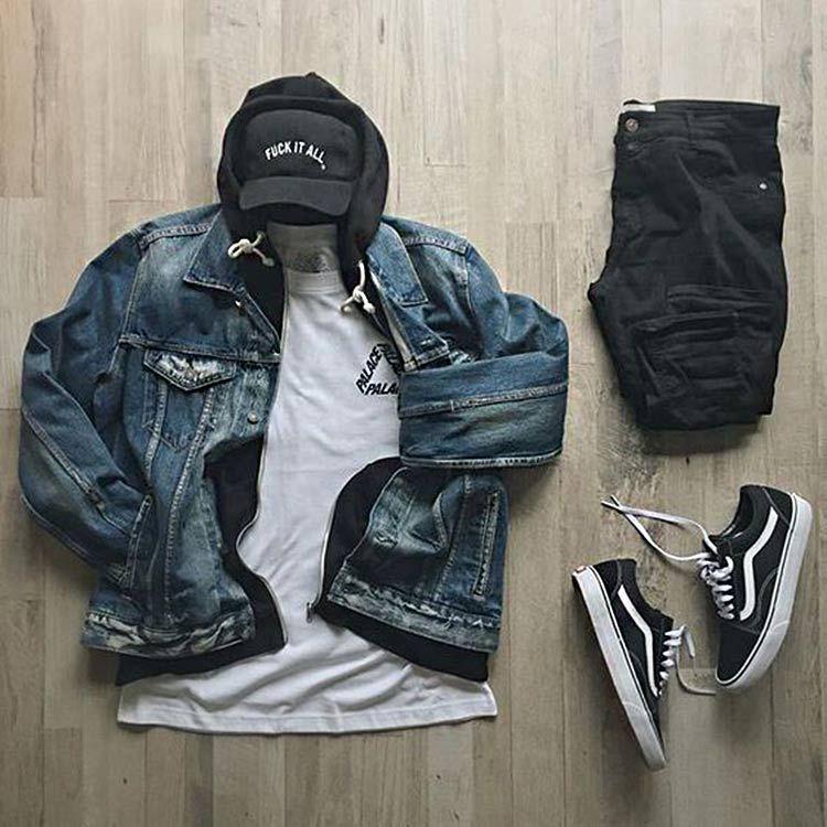 Combos pour hommes avec veste en jean   – Combos