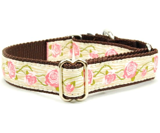 "1"" Faux Bois Tan Essential Dog Collar with FREE Leash"