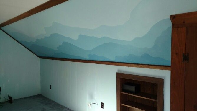 J's new mountain scape wall
