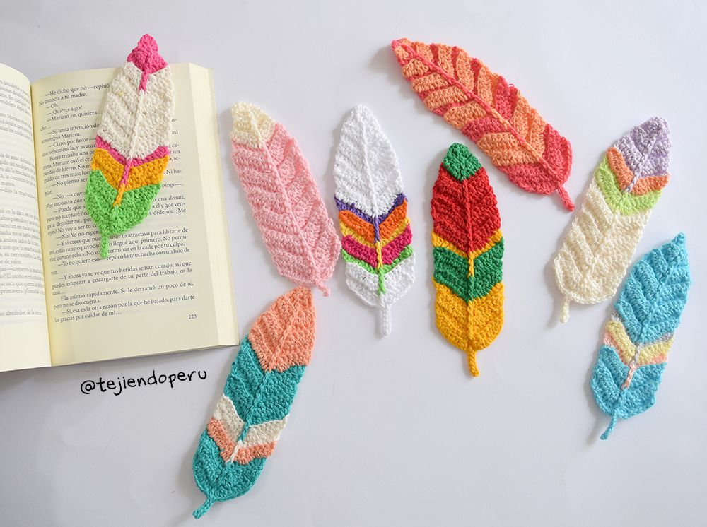 Pumas tejida a crochet Ideal para marcadores de libros, atrapa ...
