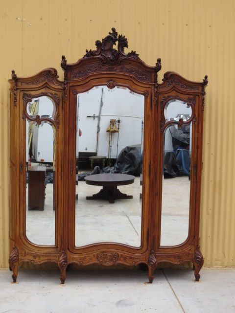 ANTIQUE ARMOIRE WARDROBE CABINET is an absolutely stunning original